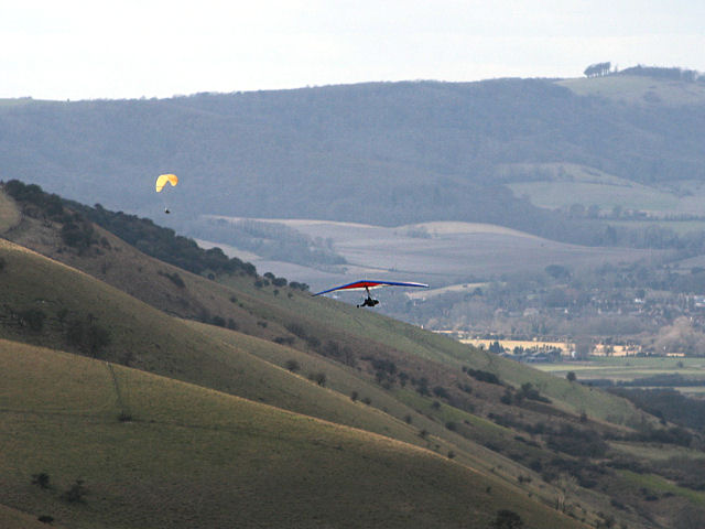 Hang Glider Towards Truleigh Hill
