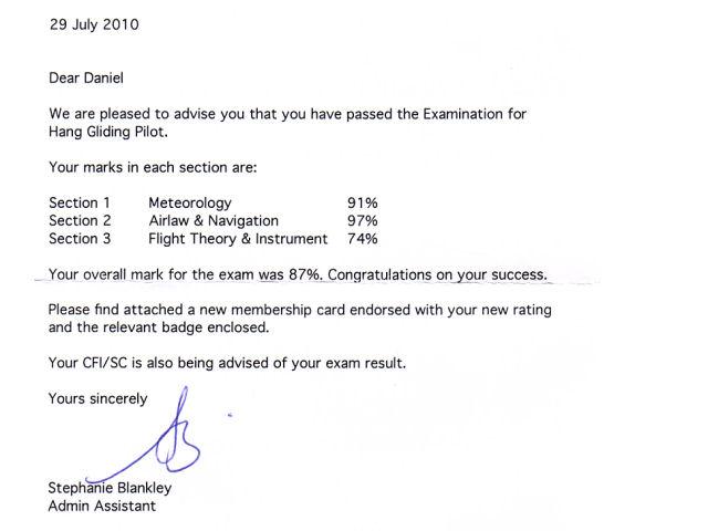 bhpa pilot exam success