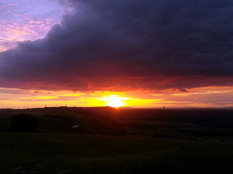 Sunset at the Devil's Dyke