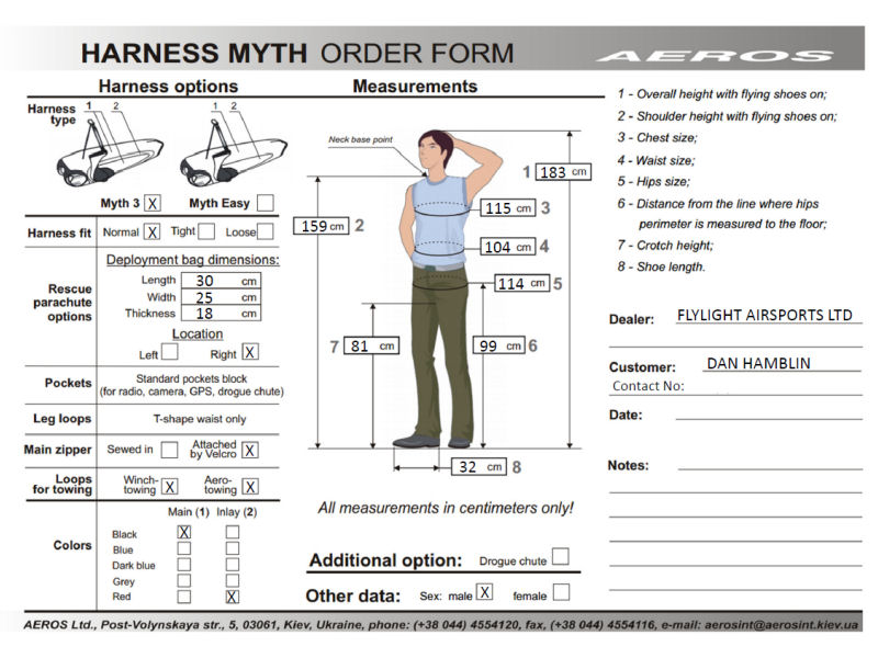 The Aeros Myth 3 Order Form