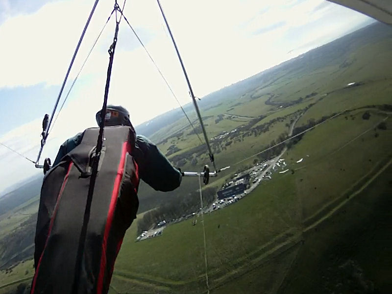Thermalling over the Devils Dyke Launch Area