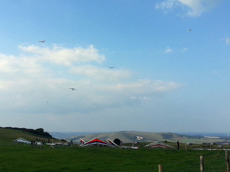 Rigged Gliders at Firle