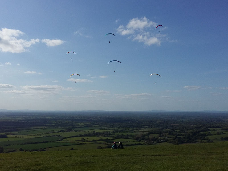 Paragliders over the Dyke