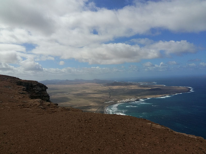 View from the Famara Cliffs