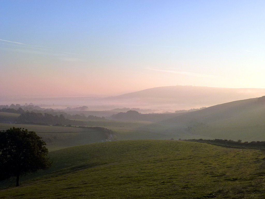 Sunrise from Steyning Bowl